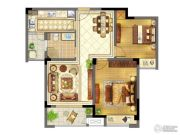 苏宁天御广场2室2厅1卫87平方米户型图