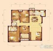 泰然南湖玫瑰湾4室2厅2卫130平方米户型图