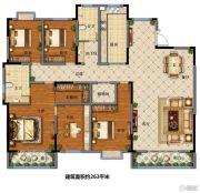 福园小区5室2厅2卫263平方米户型图