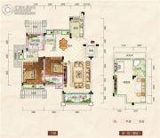 清江・月亮湾3室2厅2卫130平方米户型图