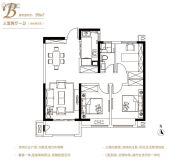 保利中央公园3室2厅1卫99平方米户型图