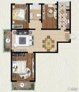 翡翠�m亭3室2厅1卫122平方米户型图