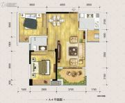富州新城D街区2室2厅1卫66平方米户型图