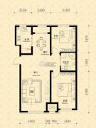 中东凯悦公馆2室2厅1卫90--95平方米户型图