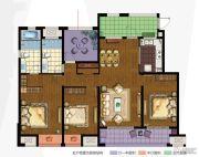 万科城4室2厅2卫140平方米户型图