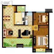 南通万达广场2室2厅1卫91平方米户型图