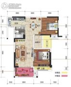 凯旋名门3室2厅1卫99平方米户型图