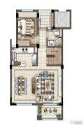 灏景湾2室2厅1卫130平方米户型图