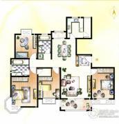 天和湖滨4室2厅2卫161平方米户型图