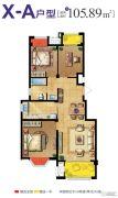 复地公园城邦・拜伦湾3室1厅1卫105平方米户型图