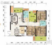 华侨假日中心4室2厅2卫108平方米户型图