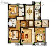 旭辉锦堂3室2厅2卫123平方米户型图