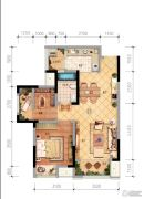 中昂锦绣2室2厅1卫0平方米户型图
