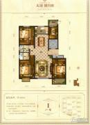 天成明月洲4室2厅2卫160平方米户型图