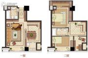 大象城国际商贸中心3室2厅2卫78平方米户型图