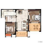 琥珀森林2室2厅1卫84平方米户型图