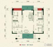 金雁帝景豪庭3室2厅2卫111平方米户型图