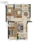 海�Z天翡3室2厅2卫126平方米户型图