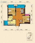 博雅锦苑2室2厅1卫75平方米户型图