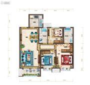 红星・紫御半山3室2厅2卫110平方米户型图