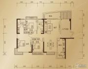 东方御景3室2厅2卫141平方米户型图