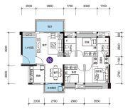 远洋香缇(商铺)3室2厅2卫105平方米户型图