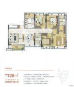 雅居乐万科热橙4室2厅0卫126平方米户型图