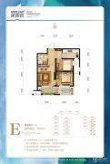 温泉新都孔雀城英国宫2室2厅1卫63平方米户型图