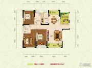 江南星城3室2厅2卫134--136平方米户型图