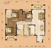 中南一号院3室2厅2卫143平方米户型图