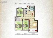 北城明珠二期3室2厅2卫116平方米户型图