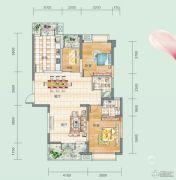 连山鼎府3室2厅2卫126平方米户型图