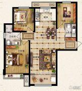 保利花园3室2厅2卫112平方米户型图