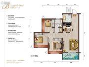 中城悦城3室2厅1卫95--98平方米户型图