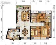 中海左岸岚庭3室2厅2卫103平方米户型图