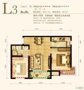 永定河孔雀城英国宫1室1厅1卫62平方米户型图