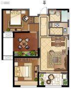 班芙春天2室2厅1卫97平方米户型图