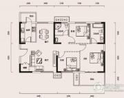 幸福时代3室1厅2卫120平方米户型图