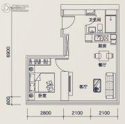 广州绿地中央广场1室1厅1卫59平方米户型图