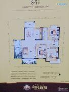 和苑新城3室2厅2卫153平方米户型图