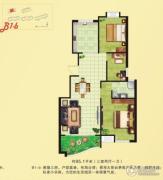 河畔花城3室2厅1卫93--98平方米户型图