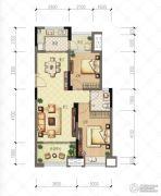 财信沙滨城市2室2厅2卫67平方米户型图