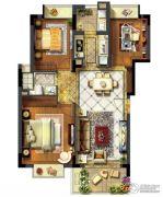 紫金湾3室2厅1卫89平方米户型图