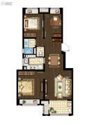万科海上传奇3室2厅1卫93平方米户型图