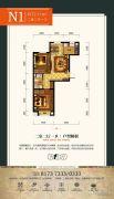 华源公园1号2室2厅1卫72平方米户型图