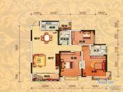巨友中央公馆3室2厅2卫125平方米户型图