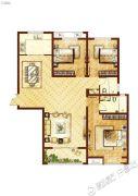 许继天宝盛世花园3室2厅2卫136平方米户型图