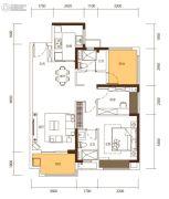 新城・鹿江风华2室2厅2卫95平方米户型图