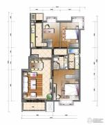 天资�Z庭3室2厅2卫130平方米户型图