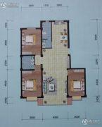 左岸・智慧城3室2厅2卫115平方米户型图